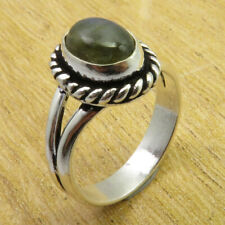 Size 7.5 Ring Ancient Style 925 Silver Overlay Collectible Labradorite Brand New