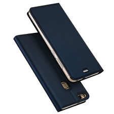 Luxury Slim Leather Flip Wallet Card Magnetic Stand Case Cover For iPhone Huawei