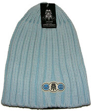 BOYS RIBBED SKATER STYLE BEANIE HAT - SIZE 54CM TO FIT AGES 4-7 - LIGHT BLUE