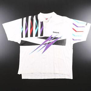 Vintage REEBOK  White 90s Short Sleeve Polo Shirt Mens L