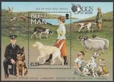 Isle of Man postfris 1996 MNH block 27 - Dogs at Work (S2260)