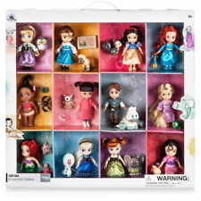 "NEW 2017 Disney Store Animators' Collection Mini Doll Gift Set 12 Dolls 5"" Tall"