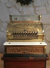 Brass Cash Register National Antique( Rare In This Condition)