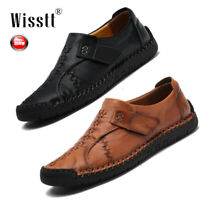 UK Mens Retro Leather Casual Driving Moccasins Shoes Large Size Antiskid Loafers