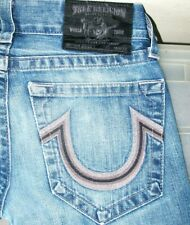 *HOT! AUTHENTIC Men TRUE RELIGION @ BOBBY STRAIGHT LEG Jeans 28 x 34 (Fit 29x33)