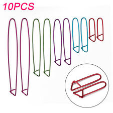 10Pcs 5-Size Yarn Aluminum Stitch Holders Crochet Knitting Needles Widget Hook