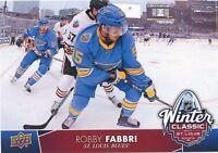17/18 UPPER DECK 2017 WINTER CLASSIC JUMBO #WC-3 ROBBY FABBRI BLUES