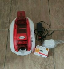Evolis Pebble 4 Colour ID Card Printer Fire Red - Ribbon Software and 100 cards