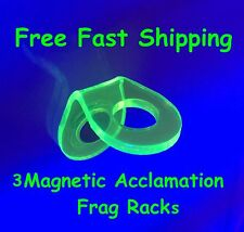 ~3X Electric Green Coral Reef Frag Rack Fits 1/2 inch Frag Plug~
