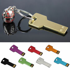 Key Pen Drive memoria flash USB Memory 4GB 8GB 32GB Metal llavero U disco r