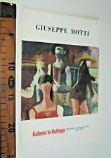 RAVENNA GIUSEPPE MOTTI GALLERIA LA BOTTEGA 1971 ARTE sc207