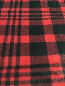 Red & Black Plaid Fleece Blanket 60 X 72 Big Size  Red & Black