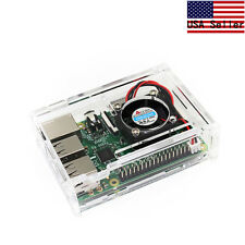 Transparent Clear Case Enclosure Box + Cooling Fan for Raspberry Pi2 & Model B+