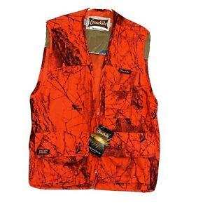 NWT Mens Gamehide Blaze Orange Camo Big Game Vest Hunting Size Large