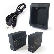 2 Batteria 900 mAh + caricabatteria per ProCam SJCAM QMOX SJ4000 SJ5000 - wifi
