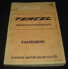 Werkstatthandbuch Toyota Tercel AL 11 Getriebe Achsen Lenkung Bremsen Kupplung!