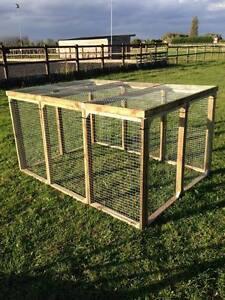 Rabbit enclosure pen Aviary Panels Run Chicken  Rabbits Puppy Birds