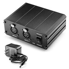Neewer 2-Channel 48V Phantom Power Supply with Adapter for Condenser Microphones