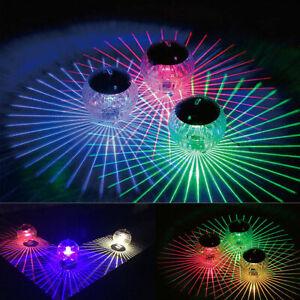 Outdoor Solar LED Floating Lights Garden Pond Pool Lamp Rotating Color Change