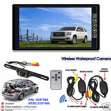 """9""""TFT LCD Color Car Reverse Rear View Mirror Monitor with Wireless Backup Camera"""