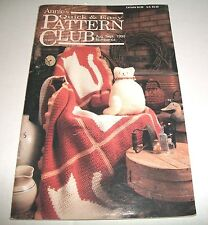 SMALL PATTERN LEAFLET BOOK ANNIES CROCHET CLUB QUICK & EASY AUG-SEPT 1990 #64