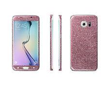 2 x Glitzerfolie Samsung Galaxy S6 Edge+ Plus Bling Skin Sticker Schutzfolie