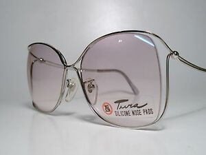 "NOS Vintage Ladies ""TURA 424"" Rimless Sun/ Eyeglasses Frame Rhodium 55-17 Med EX"
