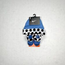 nike baby boy infant Hat And Booties Set