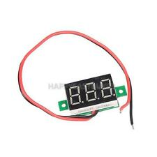 """Mini DC 2.5-30V 0.36"""" Red LED Panel Voltage Meter 3-Digital Display Voltmeter"""