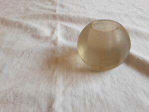 Vintage Clear Glass Banded Match Striker