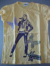 Shirt t-shirt Hannah Montana taille 128 Jaune Manches Courtes Avec Motif Magnifique