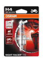 New! Osram H4 Night Racer 110 Motorbike Headlight Bulb +110%  (x1) 64193NR1-01B