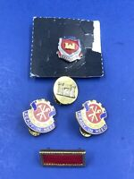 US Military Pins Lot Of 5 Engineer Meritorious Unit Citation Vintage Rare