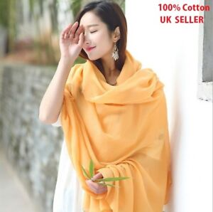 100% Cotton Scarves Hijab Scarf Extra Wide Luxury Quality Super Soft