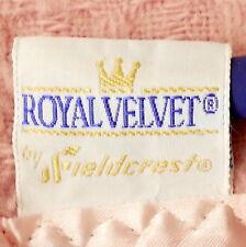 Linens Blanket Queen Woven Pure Wool Fieldcrest Royal Velvet Pink Usa As Is