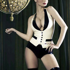 Latex Rubber Tops Waistcoat Sexy Women's Tank Top