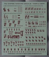 Warhammer 40k Tau Empire Infantry Decals Waterslide Transfer Sheet