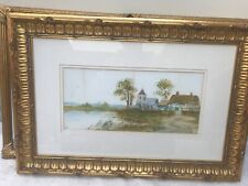 Framed Victorian watercolour of a country scene signed by Artist H day