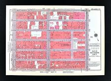 1955 Bromley New York City Map Radio City Music Hall Roxy St Patrick's Cathedral