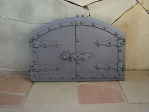 Porte de Four Fonte Four à Pizza Ofentür en Fonte Porte Du Foyer Räucherei Porte
