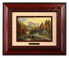 Thomas Kinkade Valley of Peace 5 x 7 Framed Brushwork (Brandy Frame)