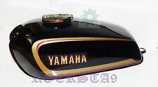 YAMAHA RX100 RX125 NEW PETROL GAS FUEL TANK WITH CHROME LID CAP & DECALS EMBLEM