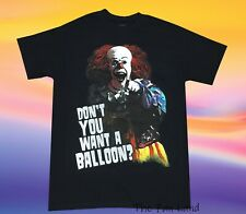 New Pennywise Clown IT Mens Dont you want a Balloon Stephen King Vintage T-Shirt