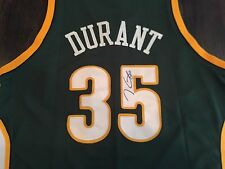Signed KEVIN DURANT Seattle Supersonics Rookie JERSEY! COA GOLDEN STATE WARRIORS