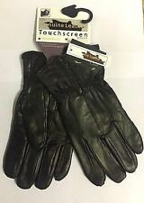 New Mens Large Zip Leather Touch Screen Gloves Thermal Winter Iphone Ipad Gift L