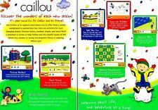 Caillou: Four Seasons of Fun The Learning Company Ages 2 - 6 PC Video Game
