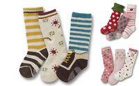 Girls Boys Kids Socks 3-pack Pink Strawberry Stripe Age 1 2 3 4 5 Anti Slip
