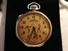 Vintage 16S New Haven Sports Timer Pocket Watch  Runs Well.