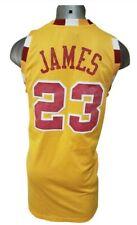 NBA REEBOK CLEVELAND CAVALIERS LEBRON JAMES 23 JERSEY YELLOW SIZE XL MINT