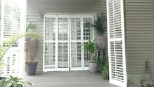 White Interior Plantation Shutters_ Vinyl_ with aluminum inserts